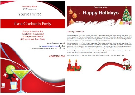Email Templates For Your Holiday Emails And Invites Ms Outlook For