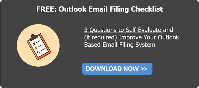 Download Outlook Email Filing Checklist
