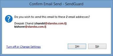 Confirm Send